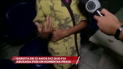 Garota de 10 anos diz ter sido tocada por um homem na praia