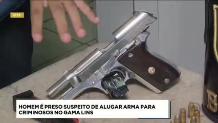 Homem foi preso suspeito de alugar arma para criminosos no Gama Lins