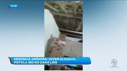 Jovem de 19 anos foi preso por posse ilegal de arma de fogo no Gama Lins
