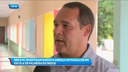 MPE e PC investigam suposta ameaça de massacre em escola de Palmeira dos Índios