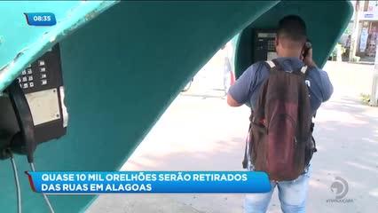 Quase 10 mil orelhões serão retirados das ruas em Alagoas