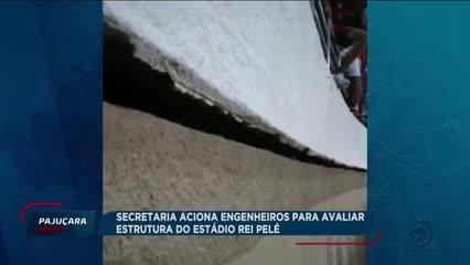 Secretaria aciona engenheiros para avaliar estrutura do Estádio Rei Pelé