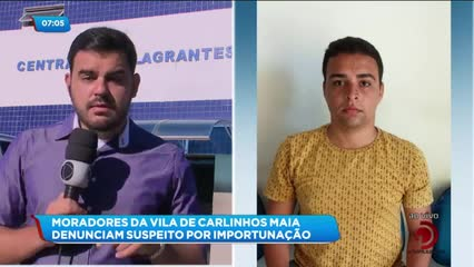 Homem foi preso em Penedo ao tentar forçar aproximação com Carlinhos Maia