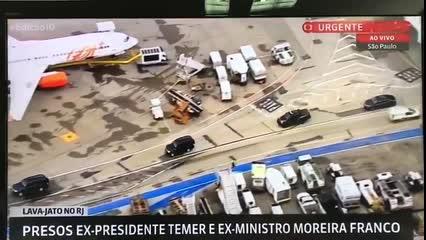 Globo News acompanha trajeto de Temer até o aeroporto em SP