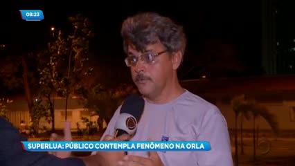 Superlua: Público contemplou o fenômeno em diversos pontos da capital