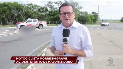 Motociclista morreu em grave acidente na AL-220 próximo a Major Izidoro