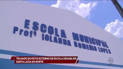 Parte de teto de escola no município de Santa Luzia do Norte desabou