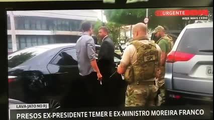 Michel Temer minutos após ser detido pela Polícia Federal