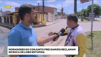 Moradores do Conjunto Frei Damião reclamam de boca de lobo entupida