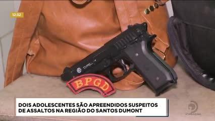 Dois adolescentes foram apreendidos suspeitos de assaltos na região do Santos Dumont