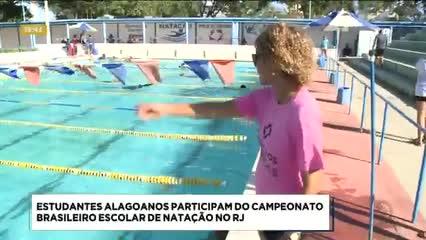 Estudantes alagoanos participaram do Campeonato Brasileiro Escolar de Natação no RJ