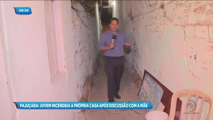 Jovem de 16 anos ateou fogo na própria casa no bairro da Pajuçara