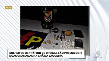 Suspeitos de tráfico de drogas foram presos com duas granadas na Chã da Jaqueira