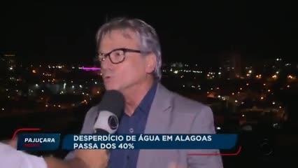 Desperdício de água em Alagoas passa dos 40%