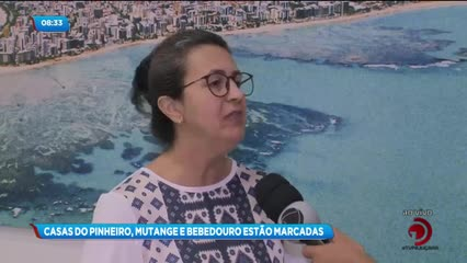 Entenda o que significa as marcações feitas em casas dos bairros do Pinheiro, Mutange e Bebedouro
