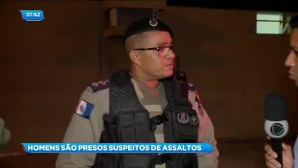 Dois homens foram presos acusados de cometerem assaltos no Benedito Bentes