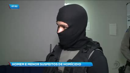 Um homem foi preso e um menor apreendido acusados de homicídio