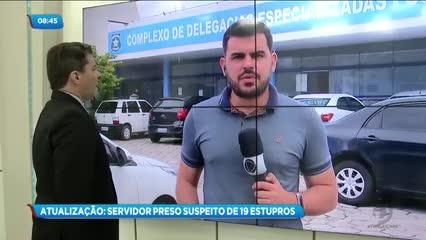 Servidor foi preso acusado de cometer 19 estupros