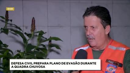 Quadra Chuvosa: Defesa Civil apresenta plano de evacuação
