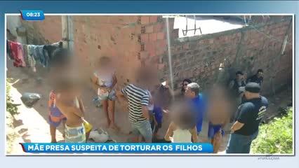 Mulher foi presa suspeita de torturar os três filhos com ovo quente