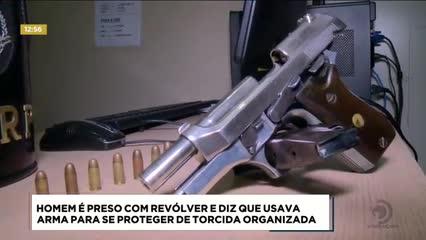 Homem foi preso por posse ilegal de arma de fogo no bairro da Pajuçara