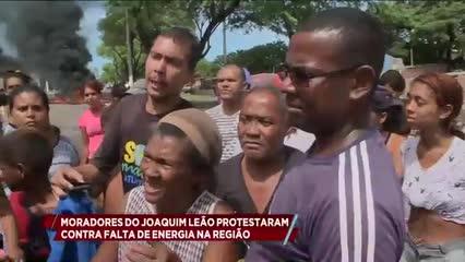 Moradores do Conjunto Joaquim Leão protestam contra falta de energia na região