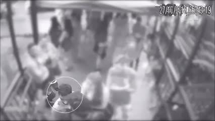 Vídeo mostra jogador Daniel sendo empurrado na saída de balada antes de crime