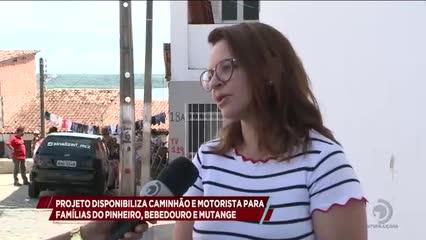 Projeto disponibiliza caminhão e motorista para famílias do Pinheiro, Bebedouro e Mutange