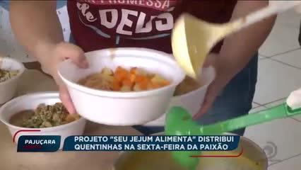 """Projeto """"Seu Jejum Alimenta"""" distribui quentinhas na Sexta-feira da Paixão"""