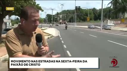 Movimento nas estradas na Sexta-feira da Paixão de Cristo