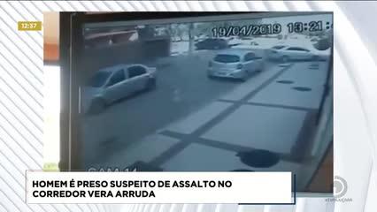 Homem foi preso suspeito de assalto no Corredor Vera Arruda