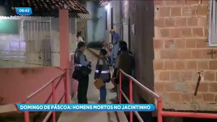 Dois homens foram assassinados a tiros no bairro do Jacintinho