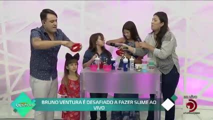 Bruno Ventura é desafiado a fazer slime ao vivo - Bloco 02