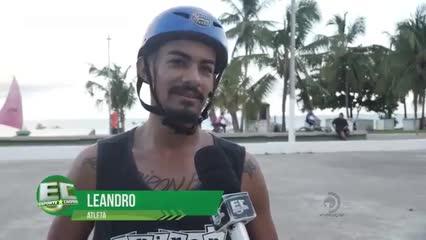 Encontro de BMX na praia de Pajuçara