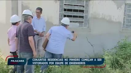 Conjuntos residenciais no Pinheiro são vistoriados por equipe de engenheiros