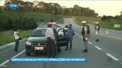 Polícia Militar realiza operações no interior do estado