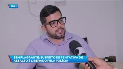 Homem foi preso suspeito de cometer assalto no Osman Loureiro