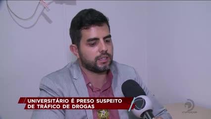 Universitário é preso suspeito de tráfico de drogas