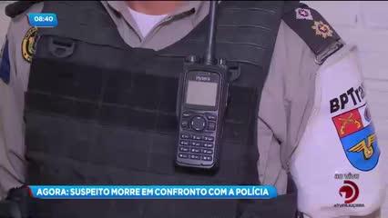 Suspeito de tráfico de drogas morreu em confronto com a polícia no bairro de Bebedouro