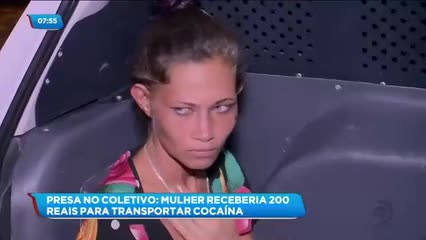 Mulher foi presa com uma grande quantidade de cocaína dentro de um ônibus