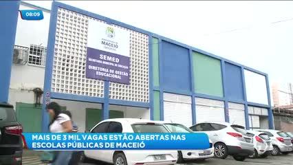 Mais de 3 mil vagas estão sobrando na rede municipal de ensino em Maceió