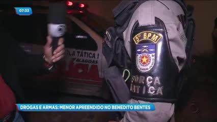Menor foi apreendido com drogas e armas no Benedito Bentes