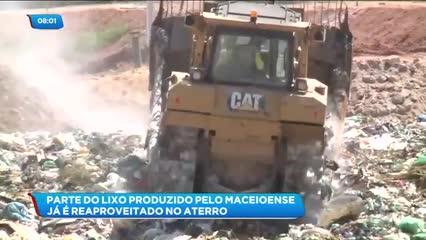 Parte do lixo produzido pelo maceioense já é reaproveitado no aterro sanitário