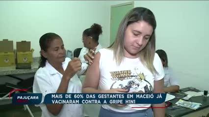 Mais de 60% das gestantes em Maceió já se vacinaram contra a gripe H1N1
