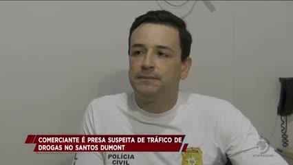 Comerciante é presa suspeita de tráfico de drogas no Santos Dumont