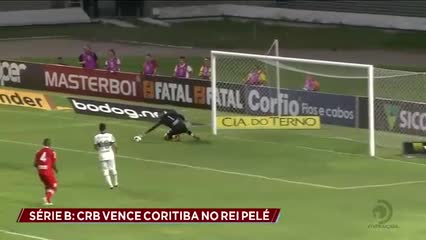 Futebol:  CRB vence Coritiba por 1x0