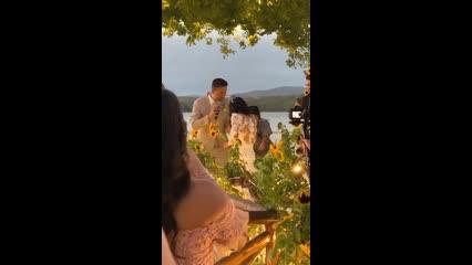 Carlinhos Maia faz brincadeira durante casamento em AL