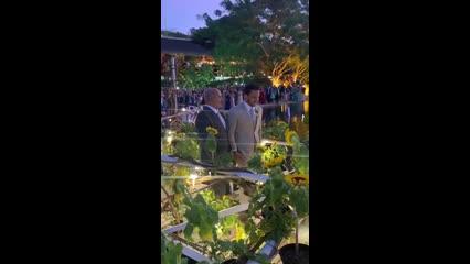 Casamento do ano: vídeo mostra chegada de Lucas Guimarães ao altar