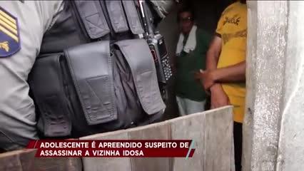 Adolescente foi apreendido suspeito de assassinar a vizinha idosa em Lagoa da Canoa