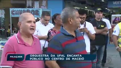 Orquestra da UFAL encanta público no centro de Maceió